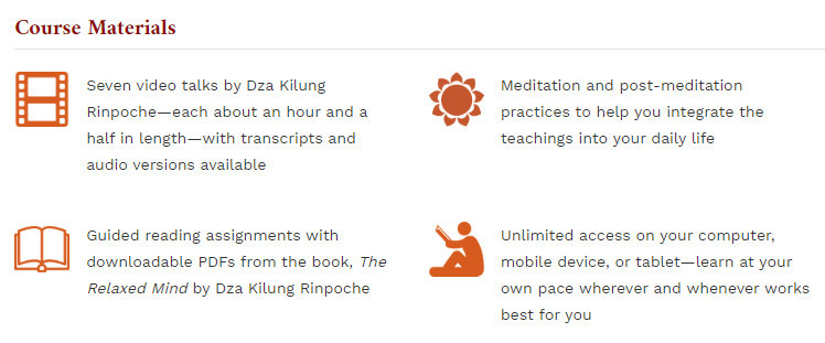 Discovering the Relaxed Mind Online Meditation Course