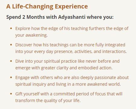 Adyashanti Online Retreat
