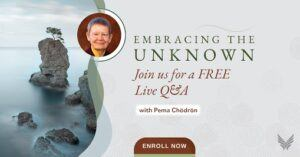 Embracing the unknown a four part online course on letting go and embracing the unknown with pema chodron